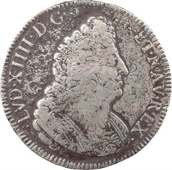 Louis XIV, écu aux palmes, 1693 Troyes