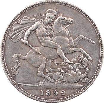 Royaume-Uni, Victoria, crown ou couronne, 1892 Londres