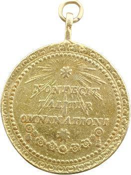 Mexique, médaille de Notre-Dame de Guadalupe de Mexico, 1817