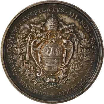 Vatican, Benoît XV, médaille annuelle, 1914 (An I) Rome