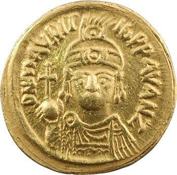 Maurice Tibère, solidus, Carthage, An 7 = 588-589