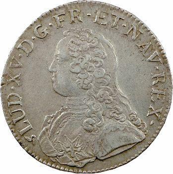 Louis XV, écu aux rameaux d'olivier, 1726 Rouen