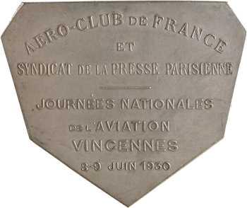 Aviation, l'aéro-club de France à Albert Caquot, journées de l'aviation de Vincennes, par R. C. Ireland, 1930 Paris (Chobillon)