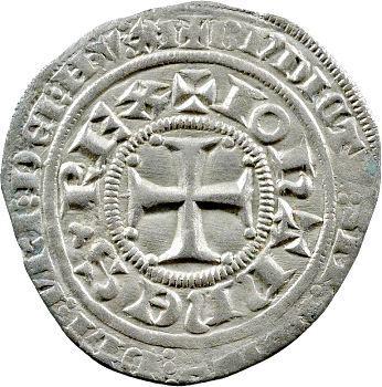 Jean II le Bon, gros au châtel fleurdelisé