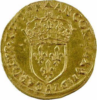 Charles X, écu d'or au soleil, 1591 Paris