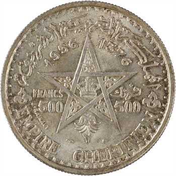 Maroc, Mohammed V, 500 francs, 1956 Paris