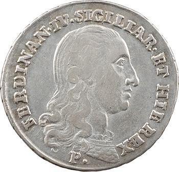 Italie, Naples (royaume de), Ferdinand IV, 20 grana, 1798 Naples