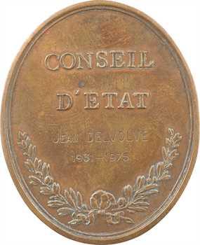 Ve République, médaille du Conseil d'État, par Duvivier, à Jean Delvolve, 1931-1975 Paris