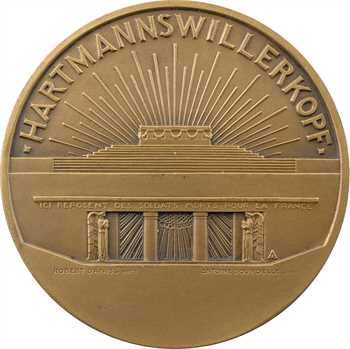 Lavrillier (A.) : monument de l'Hartmannswillerkopf (68), 1925 Paris dans sa boîte