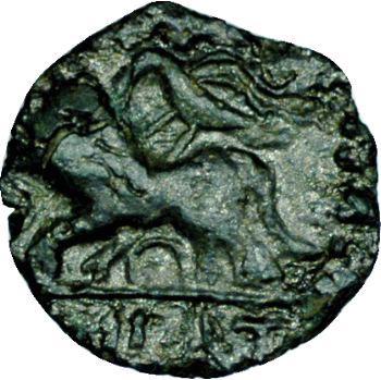 Carnutes, bronze KONAT au lion à gauche, 60-40 av. J.-C