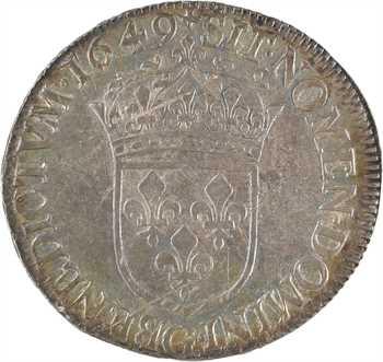 Louis XIV, demi-écu à la mèche longue, 1649 Poitiers