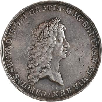 Grande Bretagne, Charles II, le traité de paix de Bréda, par Roettiers, 1667