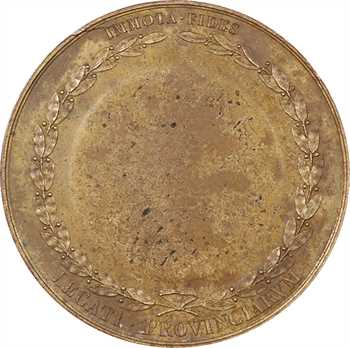 Charles X, sacre à Reims le 29 mai 1825, pour les parlementaires, bronze, 1825 Paris