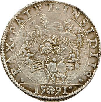 Pays-Bas, Philippe II, jeton, 1591