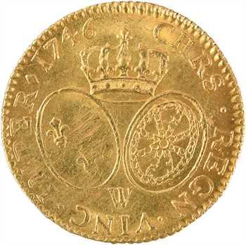 Louis XV, louis d'or au bandeau, 1746 Lille