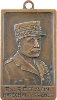 IIe Guerre Mondiale, médaillette, hommage au Maréchal Pétain, par Robin, s.d. Paris