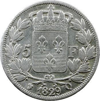 Charles X, 5 francs 2e type, 1829 Perpignan