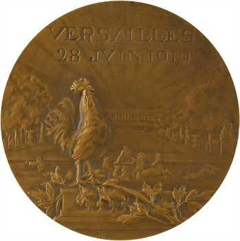 Lancelot-Croce (M. R.) : signature du Traité de Versailles, Ire Guerre Mondiale-WW1, 1919 Paris