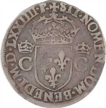 Charles IX, teston 10e type, 1574 Toulouse