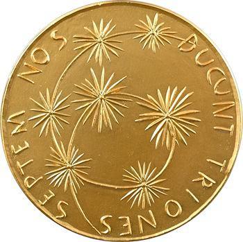Ve République, cinquantenaire de la banque franco-italienne pour l'Amérique du Sud, d'après Manzu, 1910-1960 Paris