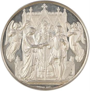 Second Empire, médaille de mariage, par Domard, 1853 Paris