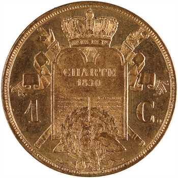 Louis-Philippe Ier, essai de 1 centime à la charte, 1847 Paris