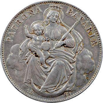 Allemagne, Bavière (royaume de), Louis II, vereinsthaler, 1868 Munich