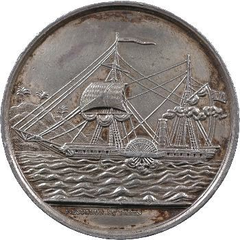 Sénégal, jeton de la compagnie du remorquage, 1860-1879