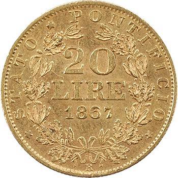 Vatican, Pie IX, 20 lire, 1867/XXII Rome