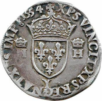 Henri II, teston à la tête nue 1er type, 1554 Bourges