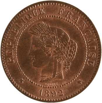 IIIe République, 5 centimes Cérès, 1892 Paris