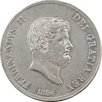 Italie, Deux-Siciles (royaume des), Ferdinand II, 120 Grana, 1856 Naples