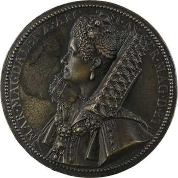 Italie, Toscane, Marie Madeleine d'Autriche, par Guillaume Dupré, 1613, fonte postérieure