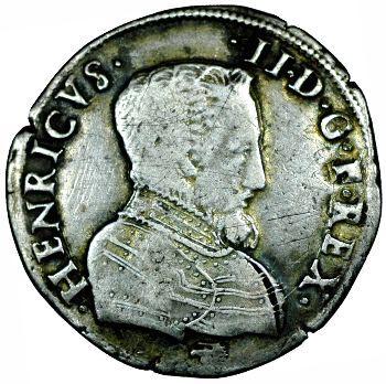 François II, teston au nom d'Henri II, à la tête nue 1er type, 1559 La Rochelle