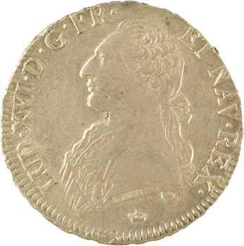 Louis XVI, écu aux rameaux d'olivier, 1786 Toulouse