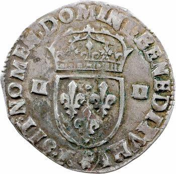 Henri IV, quart d'écu, croix feuillue de face, 1604 Bordeaux