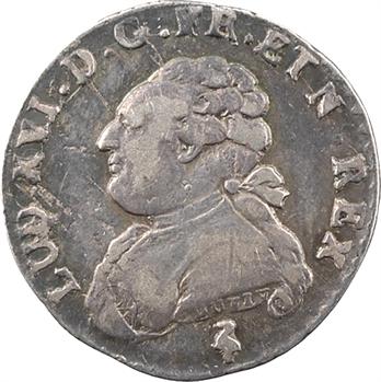 Louis XVI, vingtième d'écu aux rameaux d'olivier, 1782, 2d semestre, Paris