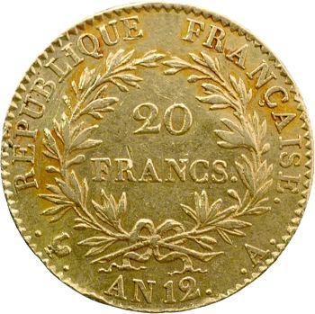 Consulat, 20 francs, An 12 Paris