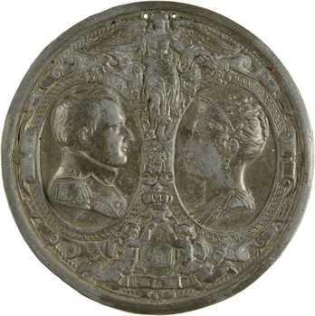 Premier Empire, hommage à Napoléon et Marie-Louise, s.d