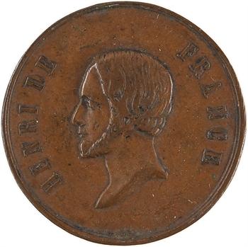 Henri V, médaillette FIDES SPES, s.d