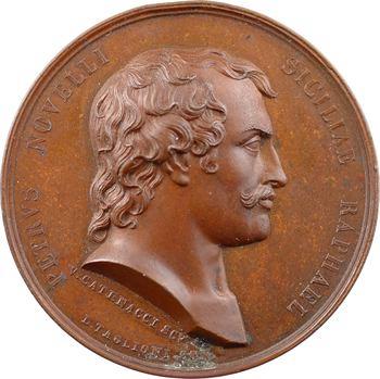 Italie, Deux-Siciles, Pietro Antonio Novelli (le Raphaël de la Sicile) par V. Catenacci et A. Arnaud, 1830