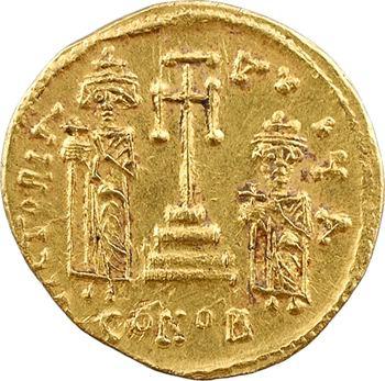 Constant II et Constantin IV, Héraclius et Tibère, solidus, Constantinople, 1re officine, 659-668