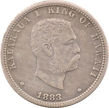 Hawaï, Kalakaua I, 1/4 dollar, 1883