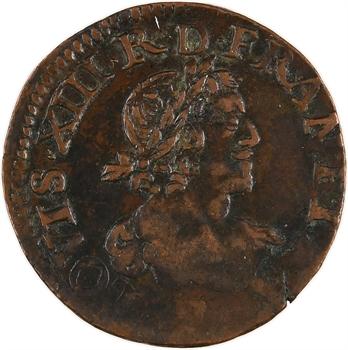 Louis XIII, double tournois 19e type, 1639 Tours