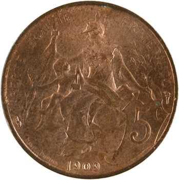 IIIe République, 5 centimes Daniel-Dupuis, 1909 Paris