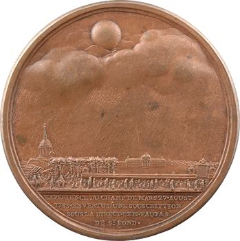 Louis XVI, le premier vol des frères Montgolfier et le ballon de Jacques Charles, 1783 Paris