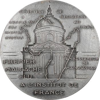 Madagascar, hommage à Albert Rakoto Ratsimamanga, par Simon, 1967 Paris
