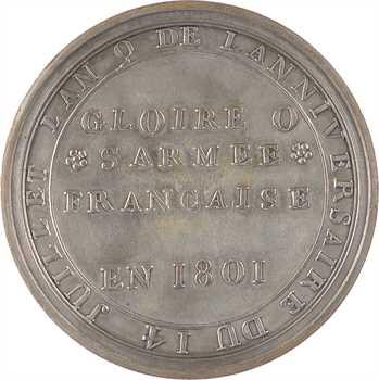 Consulat, le 14 juillet 1801, 1801 Paris