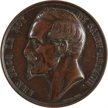 Russie/Crimée, décès d'Arnaud Jacques Le Roy de Saint-Arnaud, commandant en Crimée, par Borrel, 1855 Paris