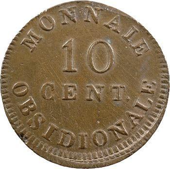 Premier Empire, siège d'Anvers, 10 centimes, 1814 Anvers